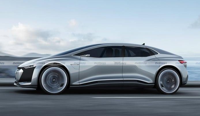 Adelantamos el diseño del Audi Landjet 2024, el futuro eléctrico de lujo de los cuatro aros