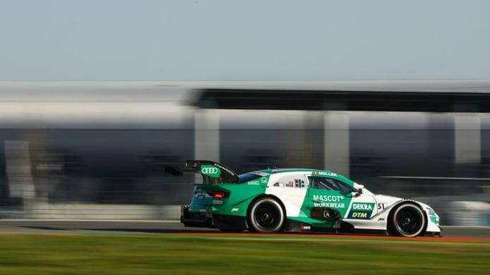 Nico Müller pelea hasta el final y gana la 1ª carrera del DTM en Hockenheim