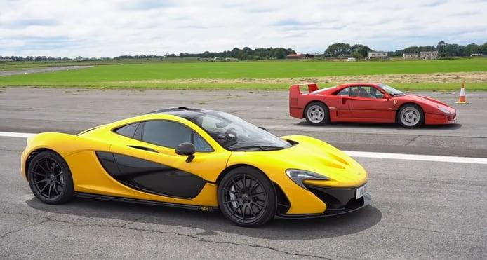 El Ferrari F40 se enfrenta al tecnológico McLaren P1 en un curioso duelo generacional
