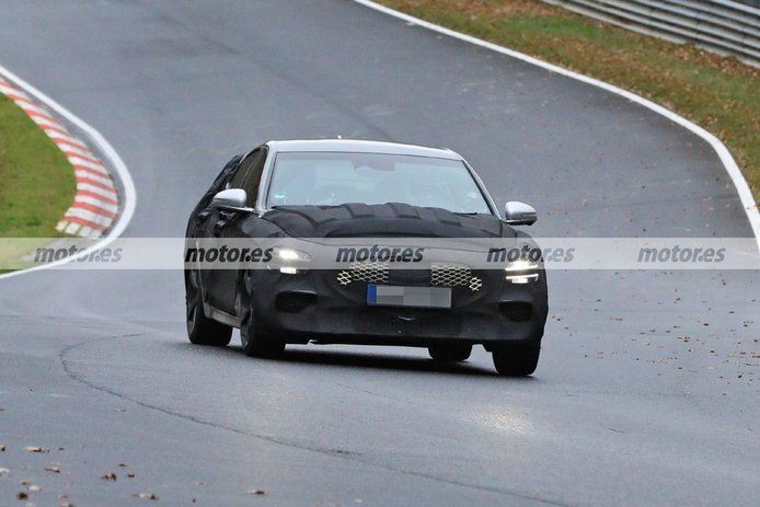 Los prototipos del nuevo Genesis G70 Shooting Brake 2021 vuelan en Nürburgring