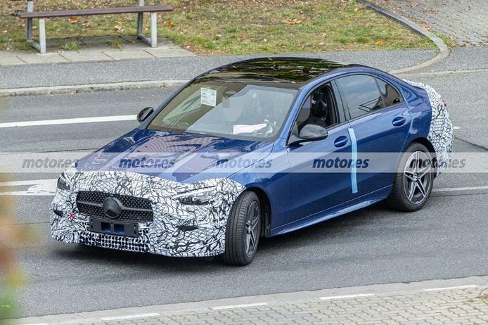 Nuevas fotos espía descubren al nuevo Mercedes Clase C 2021 AMG Line