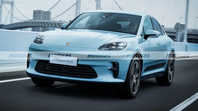 Nuevo adelanto más fiel del futuro Porsche Macan 2022, el SUV eléctrico más deportivo
