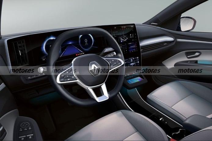 Adelanto del interior del futuro Renault Mégane Eléctrico 2021, la revolución francesa