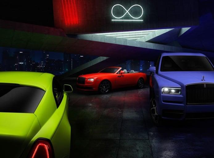 Rolls-Royce presenta la nueva colección Neon Night, los Black Badge más llamativos