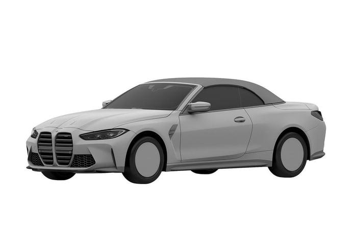 Este es el nuevo BMW M4 Cabrio (G83), filtrado por sus bocetos de patente