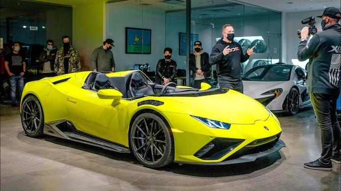 Este es el primer y único Lamborghini Huracán EVO speedster del mundo