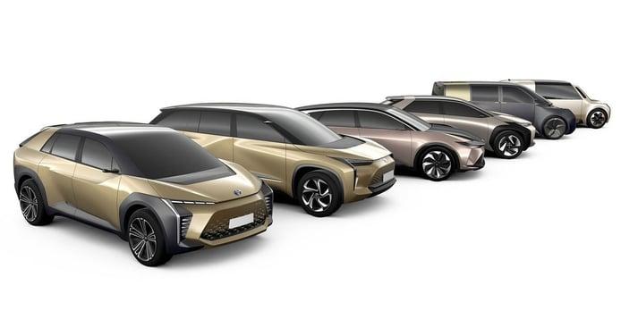 Toyota BZ, este es el nombre comercial de los cinco futuros coches eléctricos de la marca