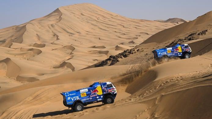 Gymkhana de obstáculos en la etapa en bucle de Wadi Ad-Dawasir