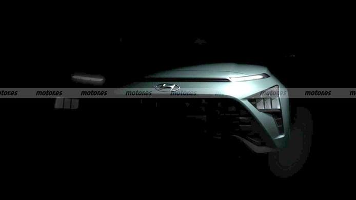 Los primeros teasers del Hyundai Bayon 2021 revelan su afilado frontal