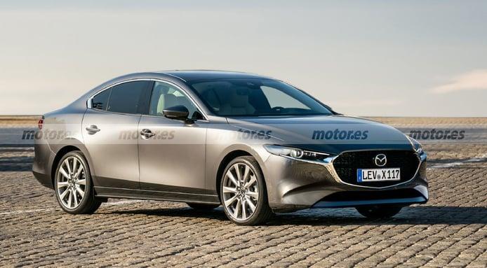 Nueva recreación del futuro Mazda6 2022, la berlina nipona al asalto de los Premium