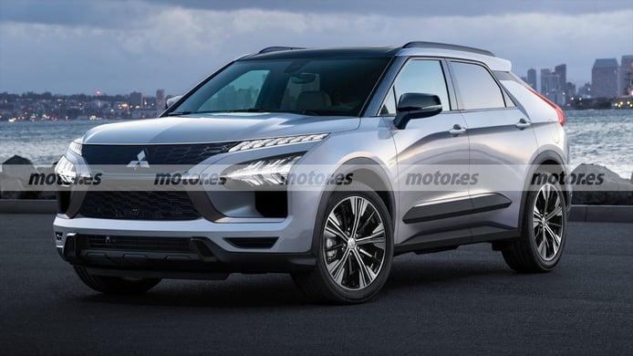 Adelanto del futuro SUV eléctrico que llegará en 2022, basado en el Mitsubishi e-Evolution