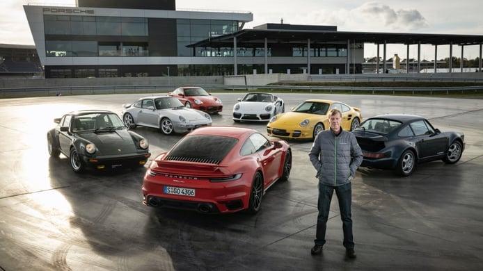 Cinco generaciones del Porsche 911 Turbo se juntan en vídeo en el circuito de Hockenheim