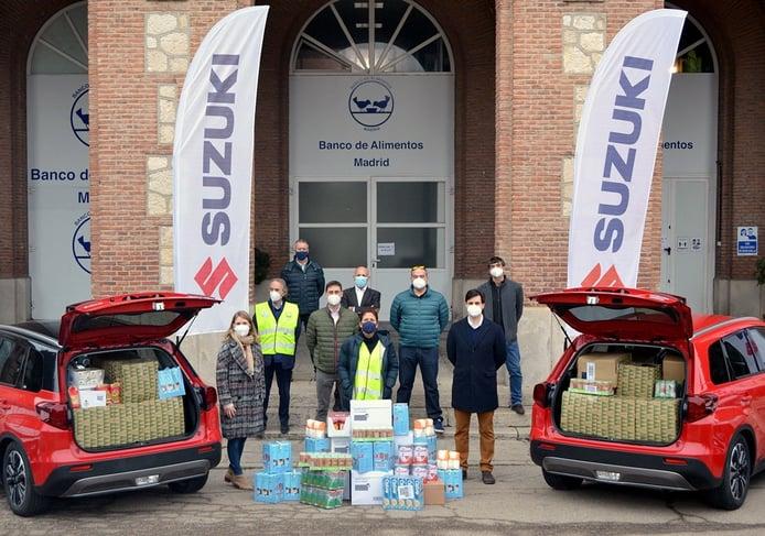 Suzuki dona 3.170 kilos de comida al Banco de Alimentos con la iniciativa Litros X Kilos