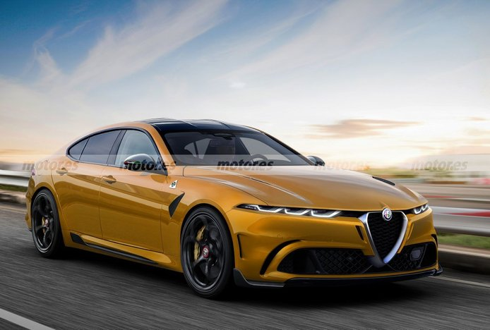 Alfa Romeo atacará el segmento E en 2025, este render adelanta la futura berlina