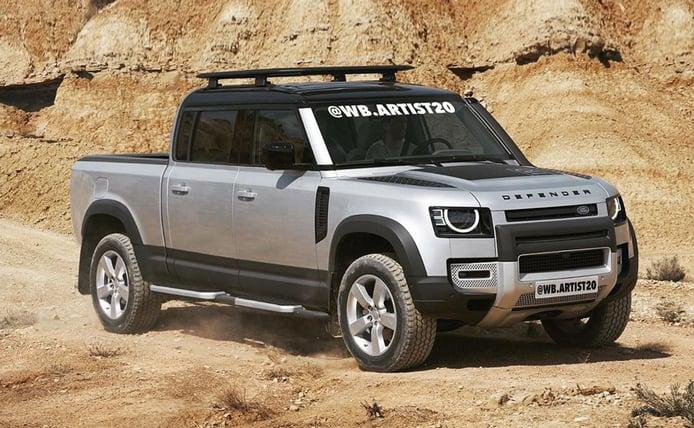 El Land Rover Defender pick-up se ha convertido en una posibilidad para la marca