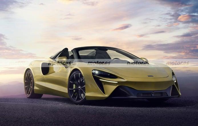 Primera recreación del futuro McLaren Artura Spider, un adelanto del nuevo roadster