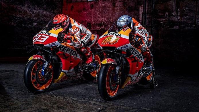 Presentación del equipo Repsol Honda de Marc Márquez y Pol Espargaró