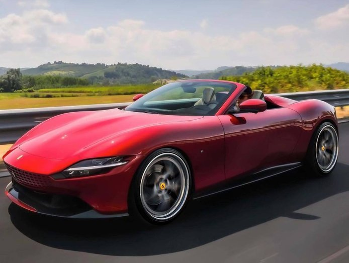 ¿Habrá un Ferrari Roma Spider? Probablemente no, pero su diseño sería espectacular