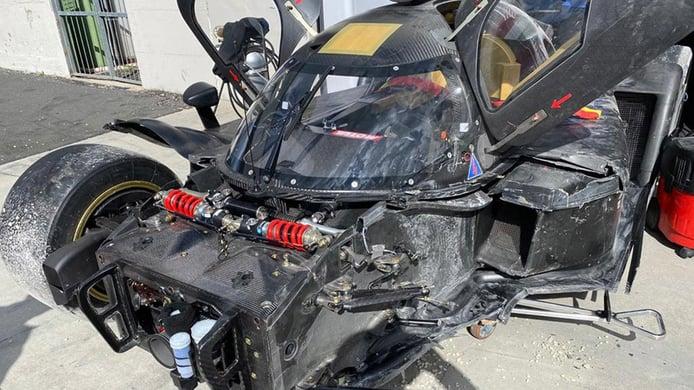 Accidente del SCG 007 LMH en Vallelunga tras realizar más de 200 vueltas