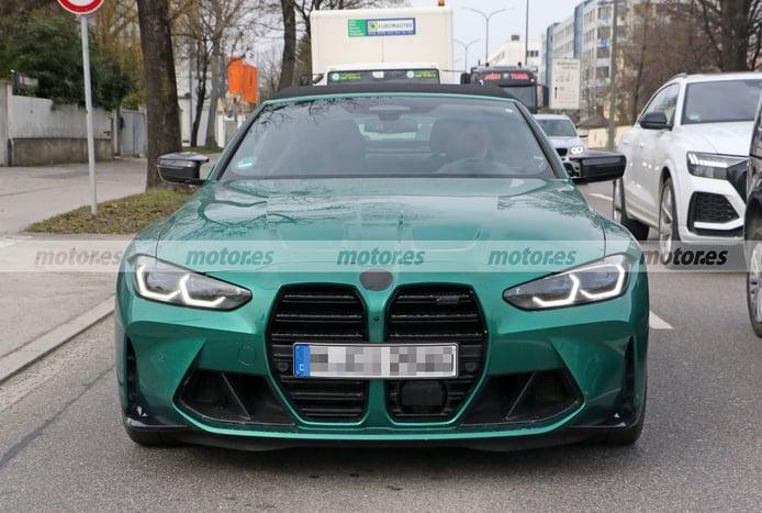 El nuevo BMW M4 Cabrio 2022 reaparece casi destapado en nuevas fotos espía