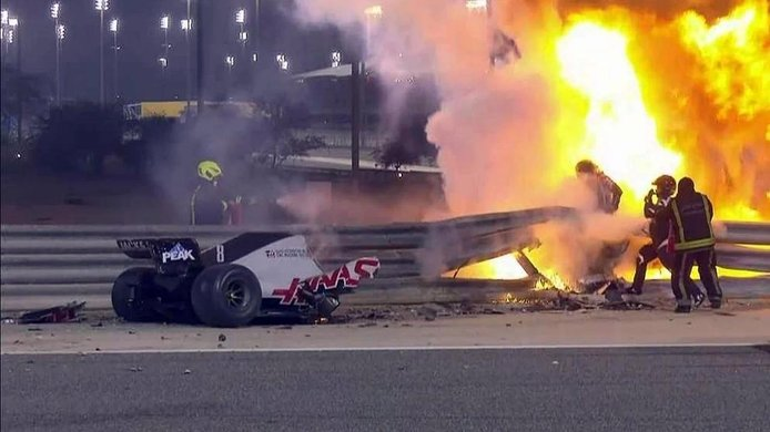 Estas son las conclusiones de la FIA sobre el accidente de 67g que sufrió Grosjean