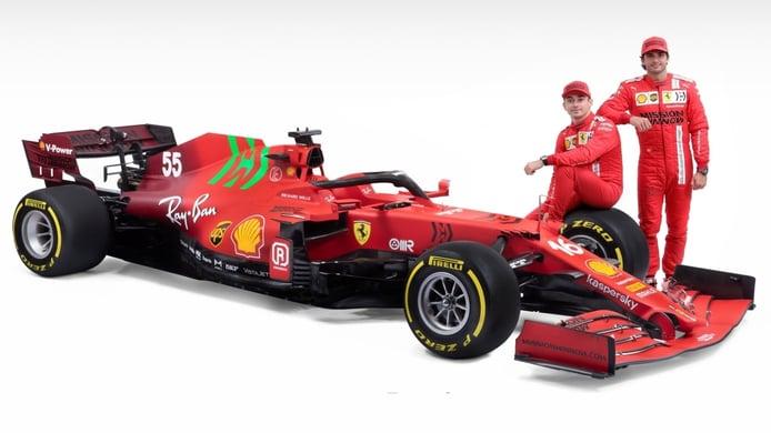 El Ferrari SF21 debuta mañana en Bahréin con Sainz y Leclerc al volante