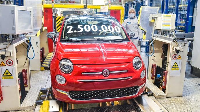 La producción del FIAT 500 en Polonia alcanza los 2.5 millones de unidades
