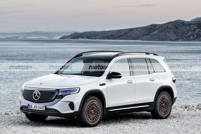 El Mercedes EQB 2022, el nuevo SUV eléctrico compacto, al descubierto en esta recreación