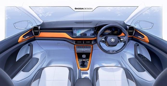 Nuevos teasers del Skoda Kushaq avanzan el interior del SUV para India