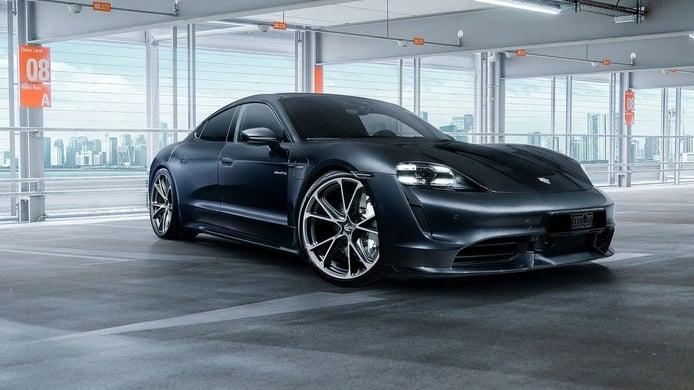 TechArt pone una nota de color al exclusivo interior del Porsche Taycan