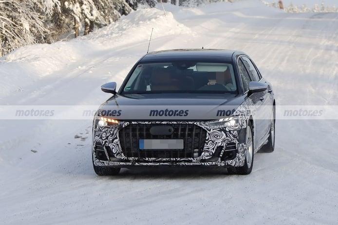 El nuevo Audi A8 L Facelift 2022 posa en nuevas fotos espía al norte de Suecia