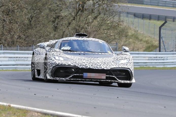 Foto espía Mercedes-AMG ONE 2021 en el circuito de Nürburgring - exterior