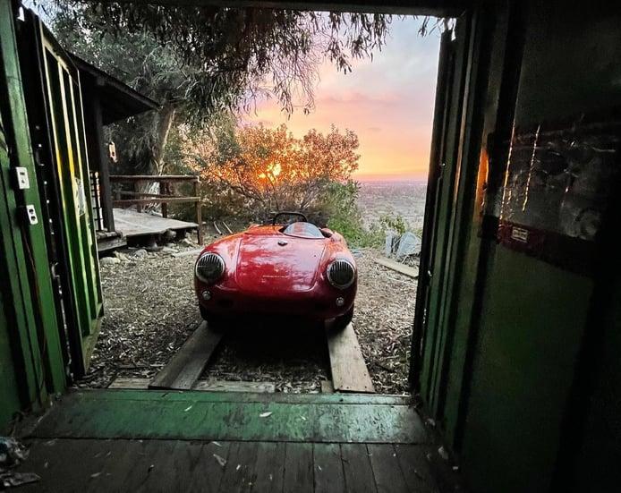Rescatado un Porsche 550 Spyder que llevaba 35 años oculto en un contenedor