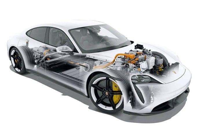 Los motores eléctricos del Porsche Taycan, tan caros como un Dacia Sandero