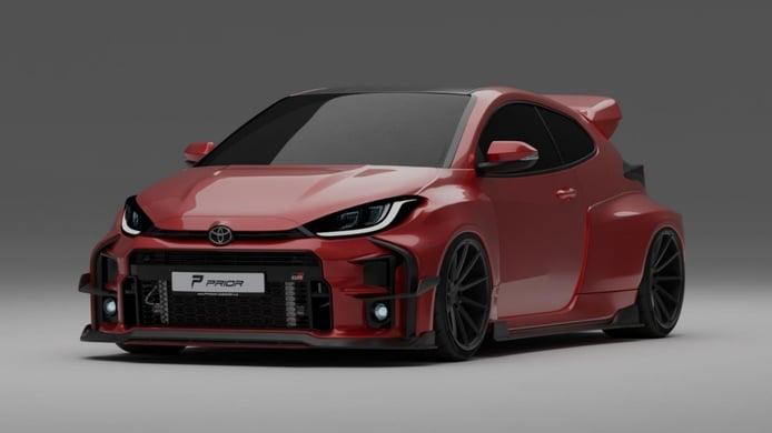 PRIOR Design adelanta el futuro widebody del Toyota GR Yaris [vídeo]