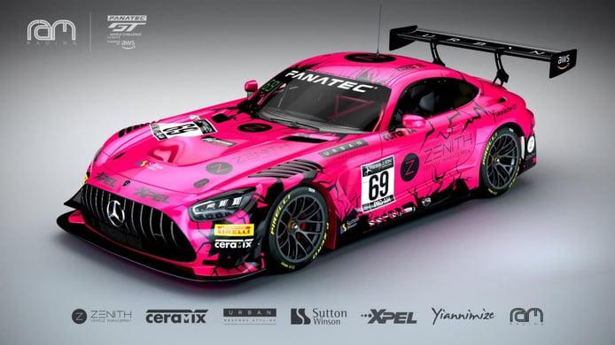 RAM Racing apuesta por el 'rosa británico' en el GT World Challenge Europe