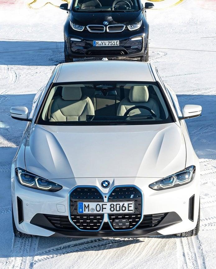 El nuevo BMW i4 M50. al descubierto  en teasers oficiales a días de su debut mundial