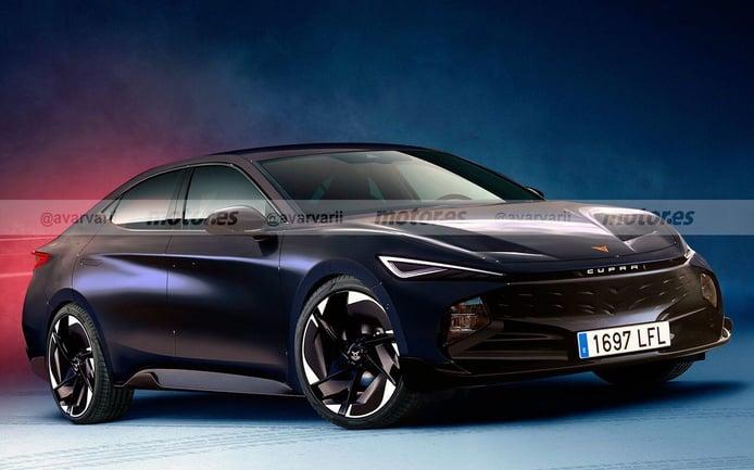 Adelanto del diseño de la nueva berlina de CUPRA, el cuarto eléctrico en 2025