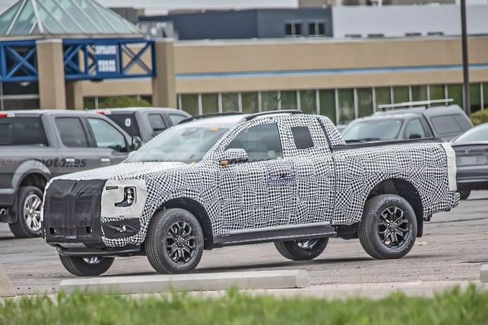Primeras imágenes del futuro Ford Ranger Wildtrak 2023 en variante Super Cab
