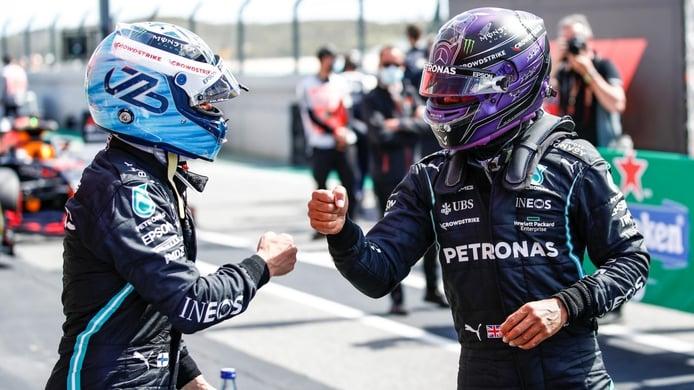 Hamilton hace campaña por Bottas entre rumores de un cambio por Russell