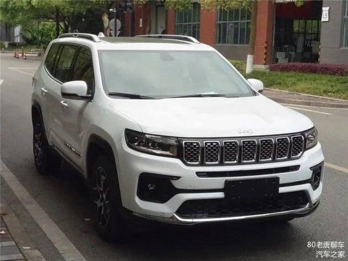El futuro Jeep Grand Commander facelift filtrado al completo en China