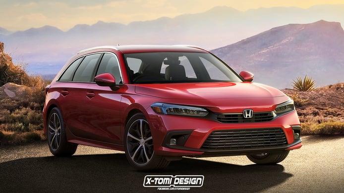 Este es el aspecto del Honda Civic Tourer 2022 que no va a llegar al mercado