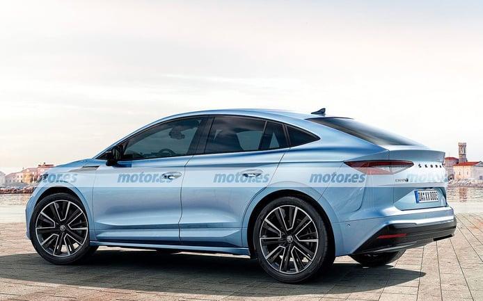 Fiel adelanto del nuevo Skoda Enyaq iV Coupé 2022, el SUV coupé eléctrico de los checos