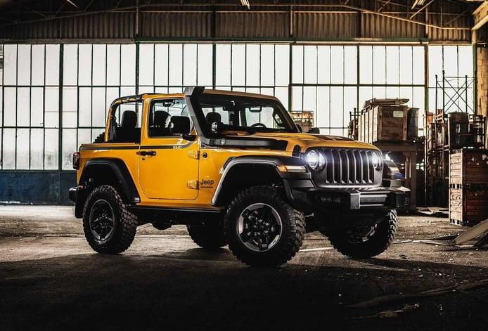 Las emisiones de CO2 se cargan al Jeep Wrangler 2 puertas en Europa