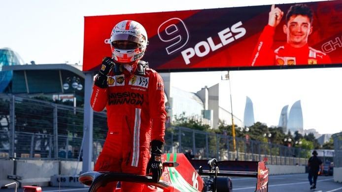 Leclerc casi no se cree la pole: «Pensé que había sido una vuelta de mierda»