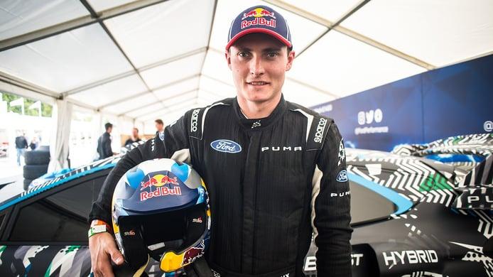 Adrien Fourmaux, con el segundo Ford Fiesta WRC en el Ypres Rally