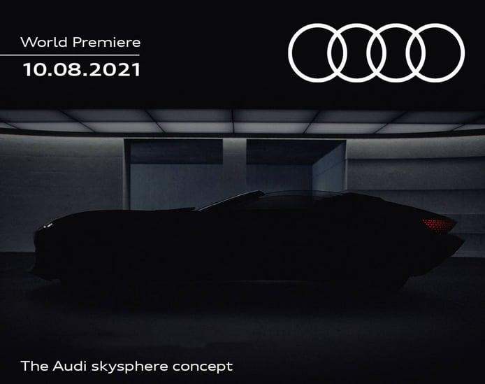Primer teaser del Audi skysphere concept, un lujoso roadster eléctrico se avecina