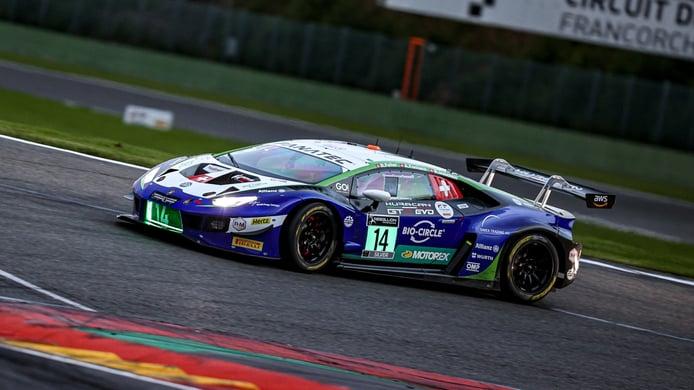 El Lamborghini #14 manda en el warm up de las 24 Horas de Spa