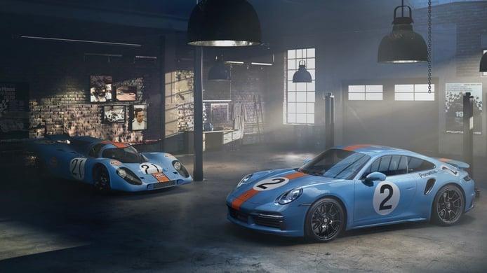 El Porsche 911 Turbo S se viste con los colores de Gulf para una subasta