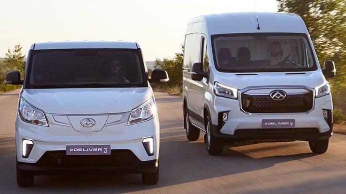 Las nuevas furgonetas eléctricas de Maxus llegan a España con un precio interesante